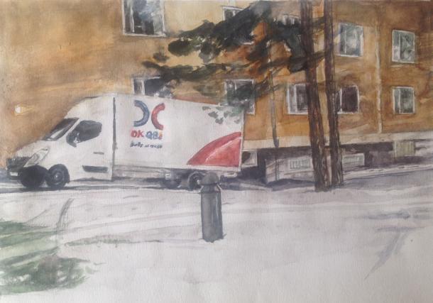 Akvarell, såld